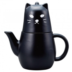 Black Kitty Tea for One Set