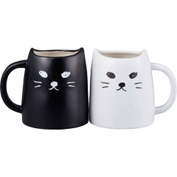 Black Kitty Pair Mugs