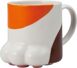 Calico Cat Paw Mug