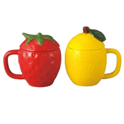 Strawberry & Lemon Pair Mugs