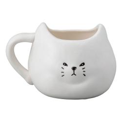 Gruff Cat Mug White