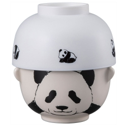 Double Sml Bowl Set Panda
