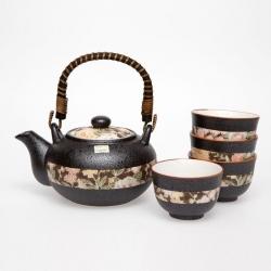 Hana Yuzen Tea Set *4 Cups - Click for more info