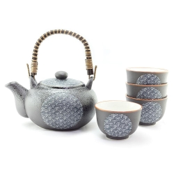 Blue Wave Tea Set *4 Cups