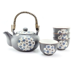 Blue Rose Tea Set *4 Cups - Click for more info