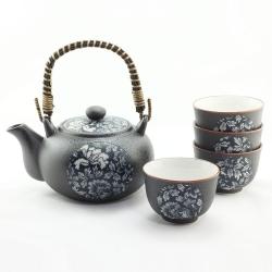 Blue Botan Tea Set  *4 Cups