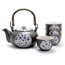 Blue Petal Tea Set *4 Cups