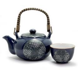 Blue Quilt Tea Set *4 Cups