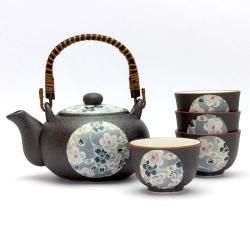 Sakura Zome Tea Set *4 Cups - Click for more info