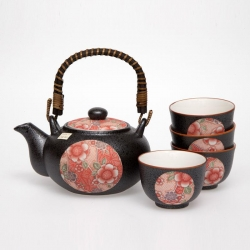 Beni Red Tenmoku T Set *4 Cups - Click for more info