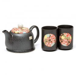 Shiki Yuzen 2 Cup Tea Set - Click for more info