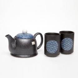 Blue Wave 2 Cup Tea Set