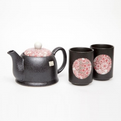 Shinshiki Red 2 Cup Tea Set - Click for more info