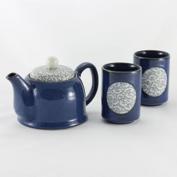 Blue Clouds 2 Cups Tea Set - Click for more info