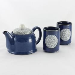 Blue Clouds 2 Cups Tea Set