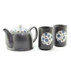 Blue Rose Tea for Two Set