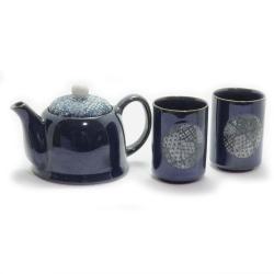 Blue Quilt 2 Cup Tea Set