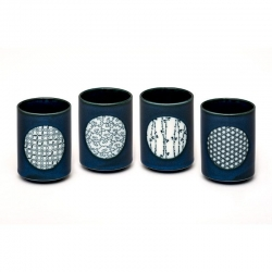 Yunomi Blue Tea Cup Set *4Cups - Click for more info