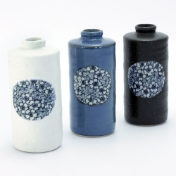 Blue Sakura Cylinder Vase - Click for more info
