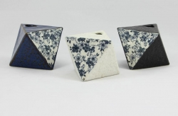 Blue Sakura Triangle Vase - Click for more info