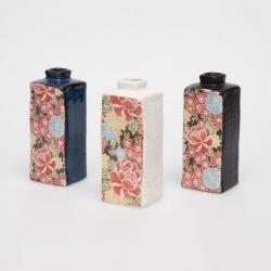 Shiki Yuzen Rectangle Vase - Click for more info