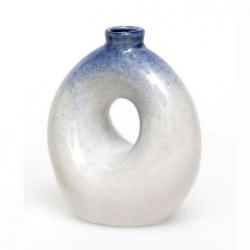 Blue Doughnut Vase