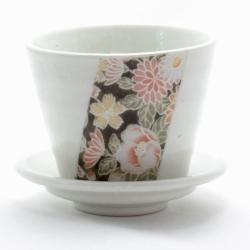 Hana Yuzen Plant Pot White - Click for more info