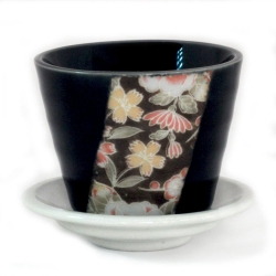 Hana Yuzen Plant Pot Black - Click for more info