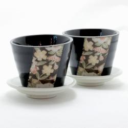 Hana Yuzen Plant Pot Black